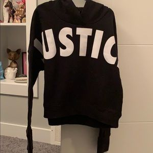 Justice cropped high low Sweatshirt